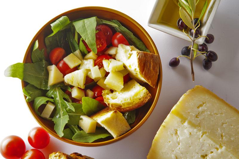 Insalata Panecotto con formaggio