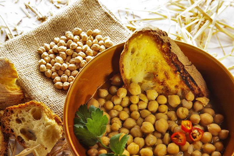 Zuppa di ceci e peperoni cruschi